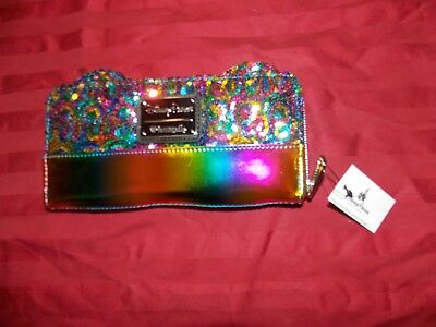 Disney Parks Loungefly Mickey Mouse Rainbow Sequins Wallet New with Tags