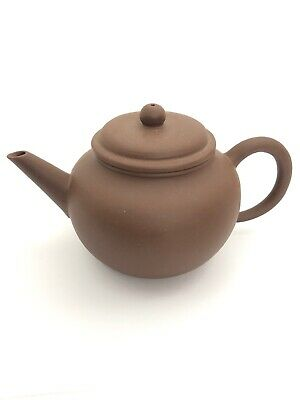 FINE CHINESE LIGHT BROWN YIXING ZISHA ANTIQUE TEAPOT👀 Signed