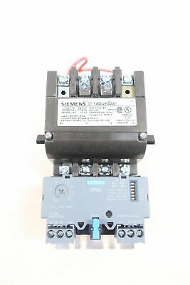 NEW Siemens 14DUE32AA  Size 1 Starter 27A  7.5hp 240v 10h 460 Relay 120/240 Coil