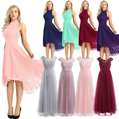 Womens Long Evening Formal Party Cocktail Maxi Dress Bridesmaid Prom Ball Gowns