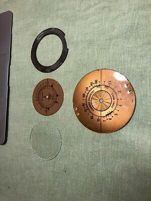 lot tube radio parts dial glass, escutcheon and dials