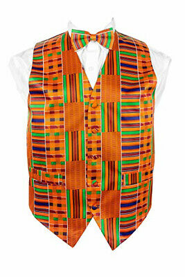 African Print vest set Kente Kinte Black History Men's (4 PC SET)