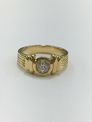 18ct 18k Yellow Gold Ladies Dress Ring with Cubic Zirconia | Brand New