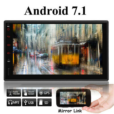 GPS Navigation Double Din Car Stereo Radio no DVD Player Bluetooth Android+Cam