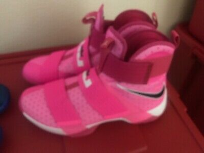 new product 650f1 d0977 Nike LeBron Soldier 10 Think Pink Kay Yow Breast Cancer Awareness Size 13