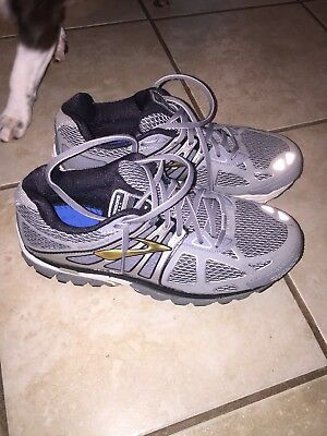 df8981967c89a BROOKS BEAST MENS Size 9 Running Shoes Silver Mogo -  25.00