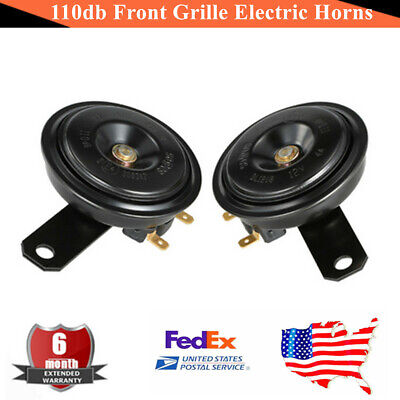 2 x 110db Front Grille Electric Horns Speaker 12V 48W Car Truck Motorcycle