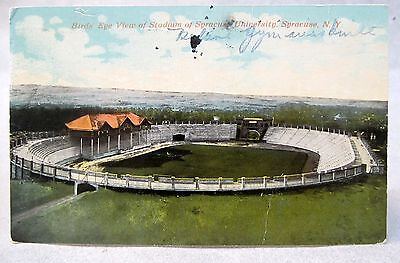 1912 BIRD'S EYE VIEW OF STADIUM SYRACUSE UNIVERSITY New York football postcard