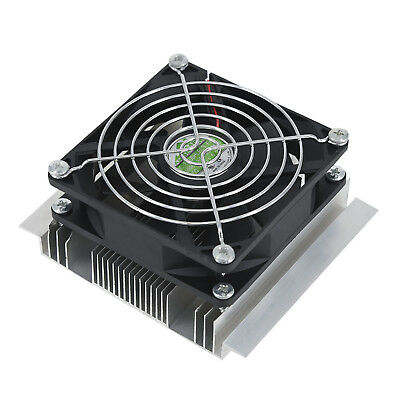 12V,6A,60W DIY Thermoelectric Peltier Refrigeration Cooling System Cooler Fan 1X