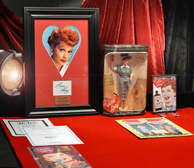 """LUCILLE """"LUCY"""" BALL Signed Autograph, UACC, Barbie DOLL, DVD, COA - UACC RD#228"""