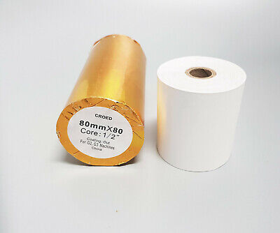 50 Rolls 80X80mm Thermal Paper, High Quality Receipt Rolls Free Shipping