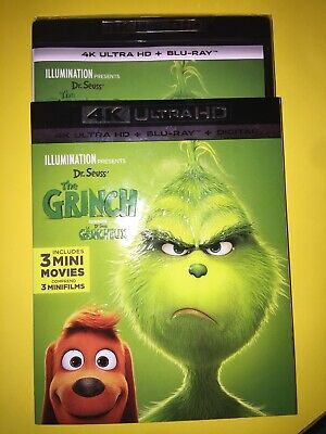 The Grinch 4K ( 4K UHD/Blu-ray/Digital ) with Slipcover 2019