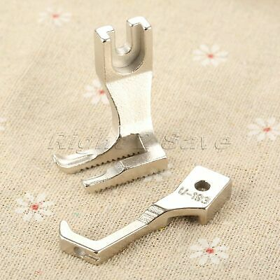 1 Set Synchronous Bilateral Flat Car Presser Foot Feet Thick Metal U192 & U193