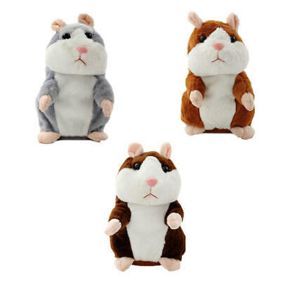 Talking Hamster Mouse Pet Plush Toy Cute Speak Sound Record for Children new