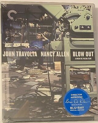 Blow Out (Blu-ray Disc, 1981, Criterion Collection) NEW Sealed