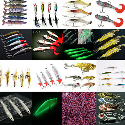 Fishing Lures Bass Crankbaits Hooks Minnow Shrimp Frog Fish Baits Tackle Tools