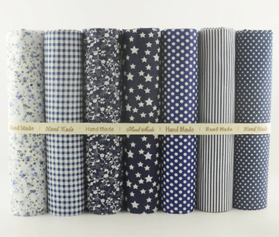 7 PCS Simple and Plain Color Series Soft  20X25 100% Cotton Fabric Fat Quarters