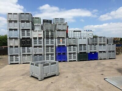 Dolav Boxes 1200 x 1000 Pallet Dolav Vented Storage Stackable Container Grade B