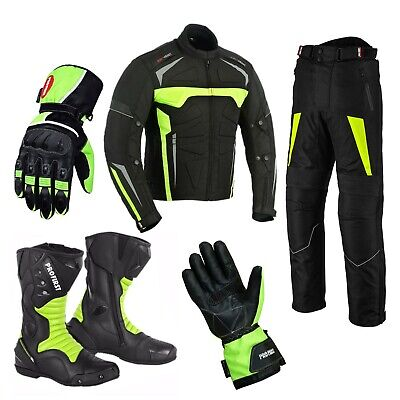Motorbike trousers Motorcycle helmets biker boots Suit Motorcycle Jacket Gloves
