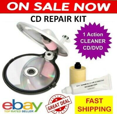 CD & DVD Disc Repair Kit Clean Surface Repairer Cleaning Device Fix Scratches