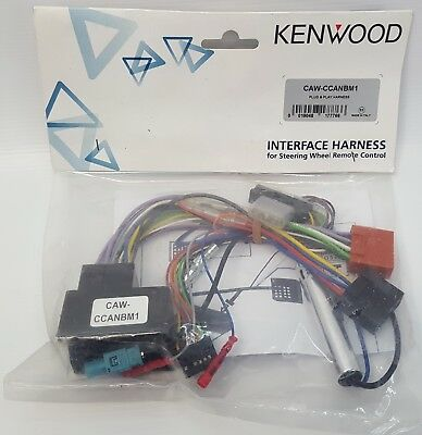 Kenwood CAW-CCANBM1 Car Steeringwheel Interface Harness Cable for BMW / MINI