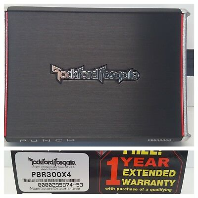 Rockford Fosgate Punch PBR300X4 Car 300W RMS 4-Channel Amplifier OPEN-BOX#