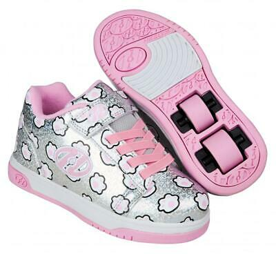 Heelys Dual Up X2 Shoes - Silver Glitter / Light Pink / Paws  + Free DVD