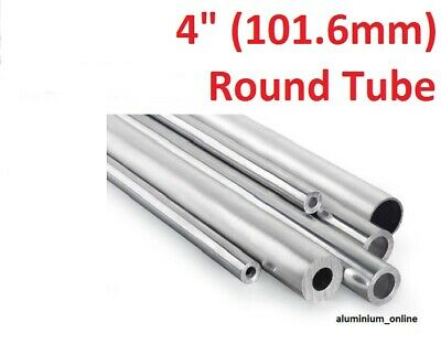 "ALUMINIUM ROUND TUBE 4"" (101.6mm) 3 thickness, lengths up to 2500mm 2.5m"