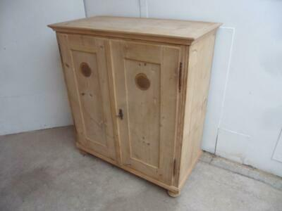 A Wonderful Victorian Antique/Old Pine Metal Vent Kitchen Cupboard to Wax/Paint