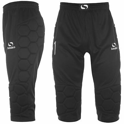Sondico Goalkeeper Three Quarter Trousers Mens Black Football Soccer