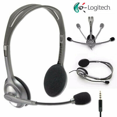 Logitech H111 Stereo Noise Cancellation 3.5mm Wired Headset Rotating Microphone