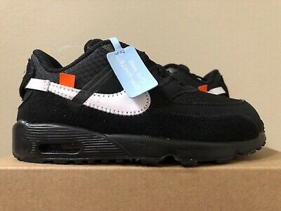 reputable site 48fd3 7db67 Nike Air Max 90 x OFF-WHITE Black Toddler BV8052-001 Size 10C 100