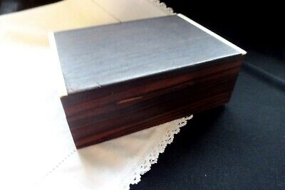 Vintage Art Deco Jewelry Box Wood Watch Weed Cigarette Woodenware