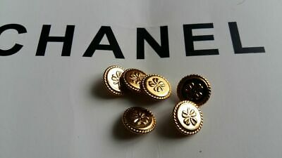 6 gold Chanel buttons autentic