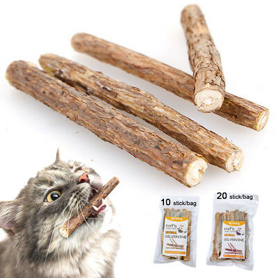 10/20 Cat Chew Sticks Snack Matatabi Catnip Silvervine Dental Molar Cleaning Toy