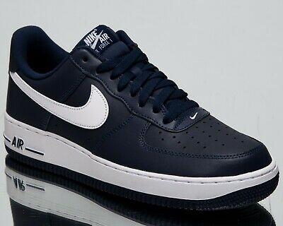 purchase cheap 2c138 cc380 Nike Air Force 1 Low New Mens Lifestyle Shoes Midnight Navy White 488298- 436