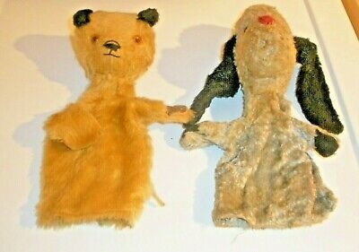 VINTAGE PUPPETS SOOTY AND SWEEP 22cm TALL