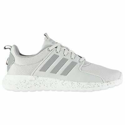 adidas CloudFoam Lite Racer Trainers Mens Grey White Athletic Sneakers Shoes 297254617