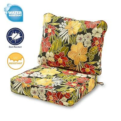 Outdoor Deep Seat Chair Patio Cushions Set Pad Weather Resistant Porch Furniture