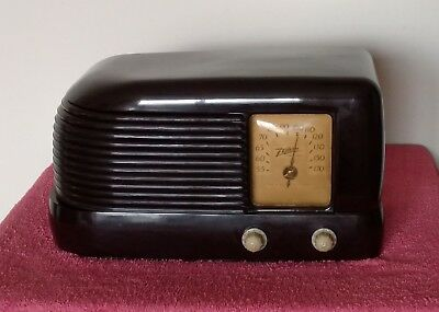 Zenith Bakelite Tube Radio Rare Farm Model 4-K-422 Bullet