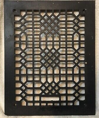 "Antique Tuttle & Bailey Floor Register Grate Vent Grill Cast Iron  11""-14"""