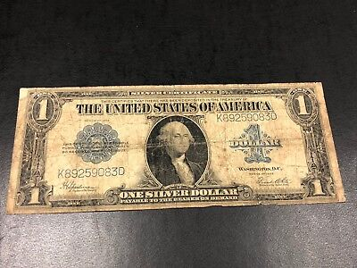 Series of 1923 Large size Silver Certificate $1 dollar note