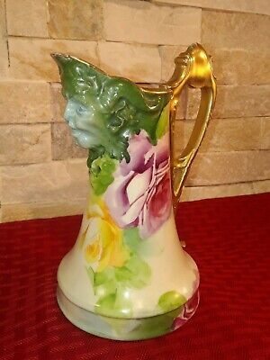 Antique RARE TURN VIENNA Artist Signed Hand Painted LA FRANCE ROSES Creamer