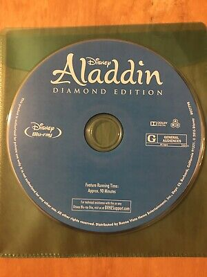 Disney Aladdin: Diamond Edition Blu-Ray DISC ONLY Free Shipping