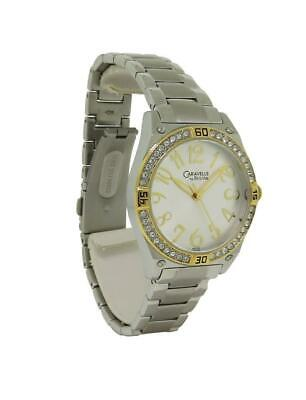 Caravelle by Bulova 45L132 Women's Round Analog Crystal Gold & Silver Tone Watch