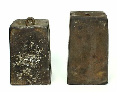 PAIR of ANTIQUE AMERICAN 8 DAY WEIGHT DRIVEN CLOCK WEIGHTS SP587