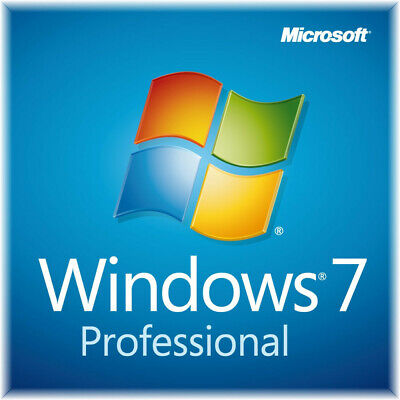 Windows 7 Professional SP1 32/64 Bit  Genuine Activation Key