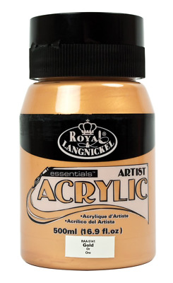 Royal & Langnickel RAA-5141 Essentials 500ml Acrylic Paint - Gold