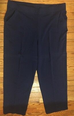 54635010960 Just My Size Pull On 18W 20W Navy Blue French Terry Jersey Knit Pants 2X Box