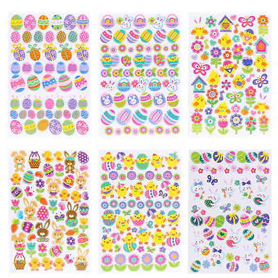 Naler Easter Stickers self-adhesive Decal for kids Child DIY Craft Art...